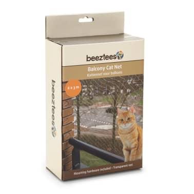 Beeztees Katzenschutznetz für Balkone Transparent 6 x 3 m 410483[2/2]
