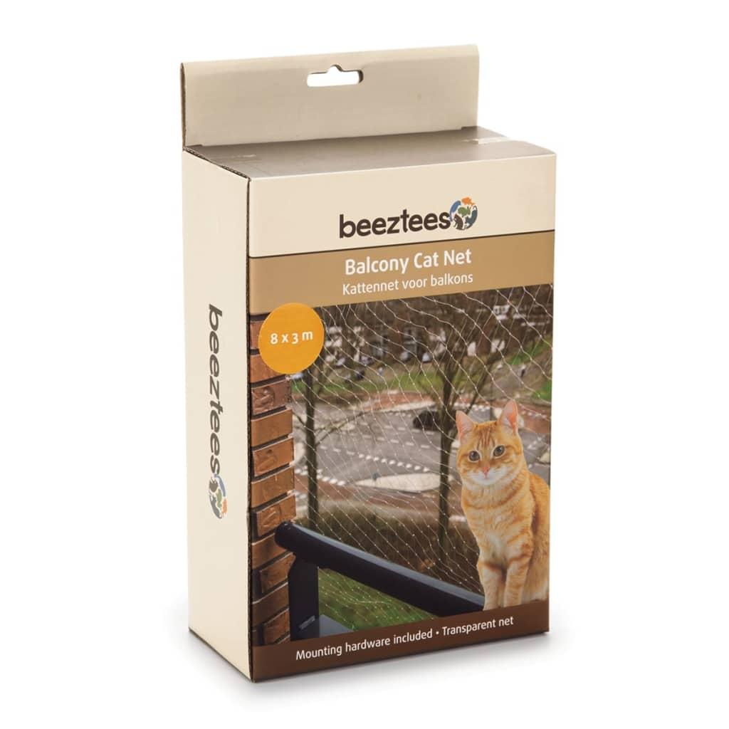 Beeztees Plasă de balcon pentru pisici, transparent, 8x3 m, 41084 poza 2021 Beeztees