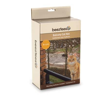 Beeztees Filet de balcon pour chats Transparent 8 x 3 m 41084[1/2]