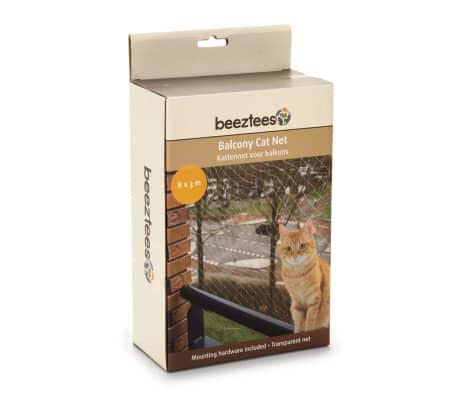 Beeztees Filet de balcon pour chats Transparent 8 x 3 m 41084[2/2]