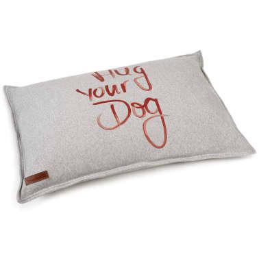 Beeztees Coussin pour chiens Hug Your Dog Gris 100 x 70 x 20 cm[1/2]