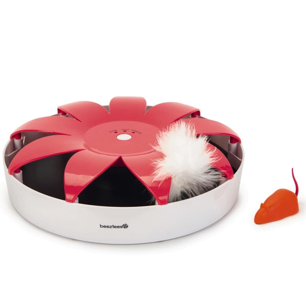 Beeztees kattelegetøj Hunty 24,5 x 6 cm pink og hvid 440636