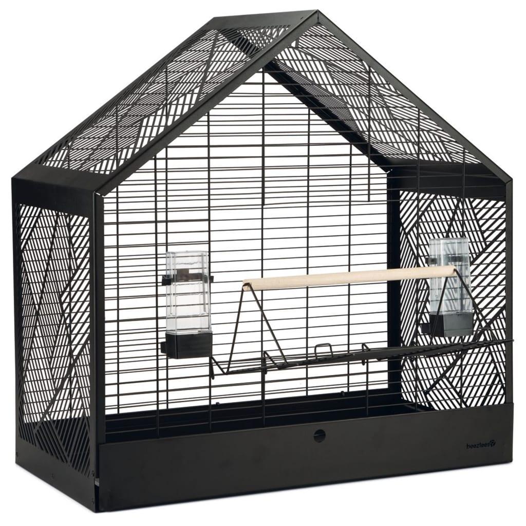 Beeztees Colivie de păsări Yara, negru, 71 x 35 x 70 cm, metal poza vidaxl.ro