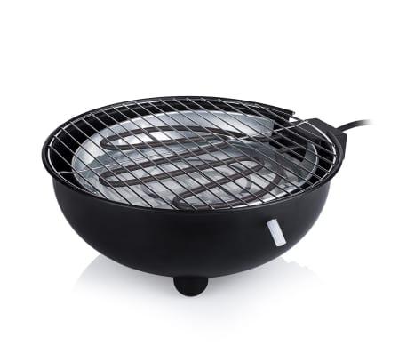 Tristar Elektrische tafelbarbecue BQ-2880 1.250 W 30 cm zwart