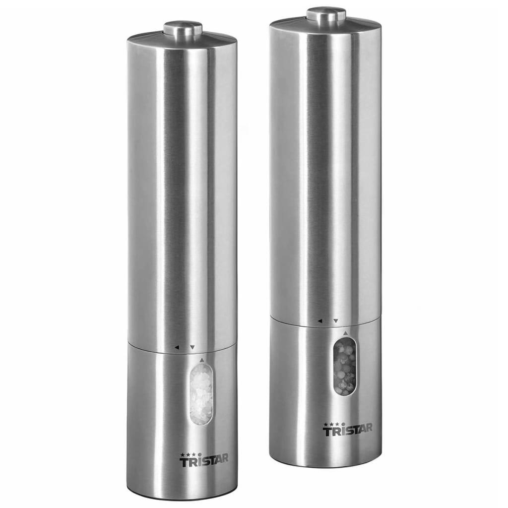 Tristar Peper-/zoutmolen set PM-4005 zilver 2 st