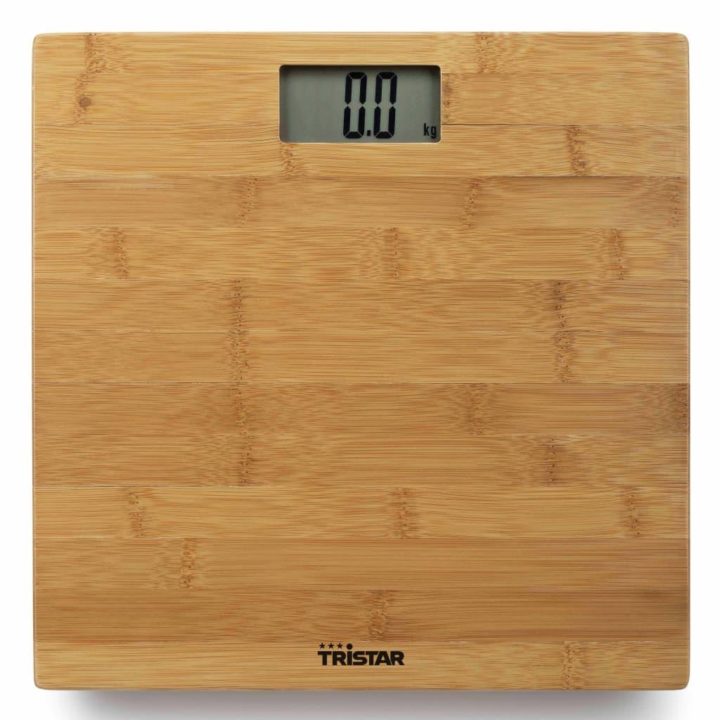 Tristar Personenweegschaal 180 kg bamboe