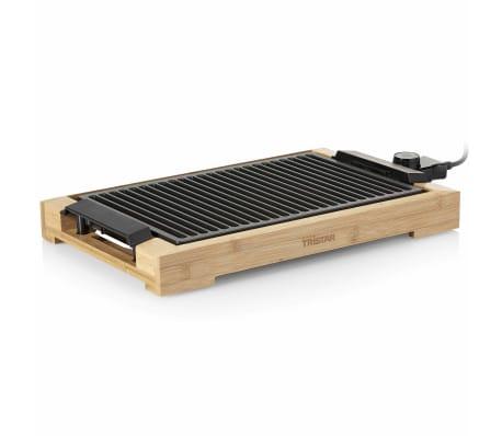 Tristar Elektryczny grill z rusztem, 2000 W, 37 x 25 cm, bambus