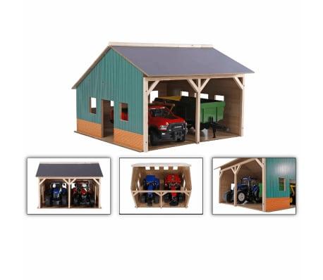 Kids Globe hangar de ferme pour tracteurs jouet Échelle 1:16 Bois 610338[2/2]