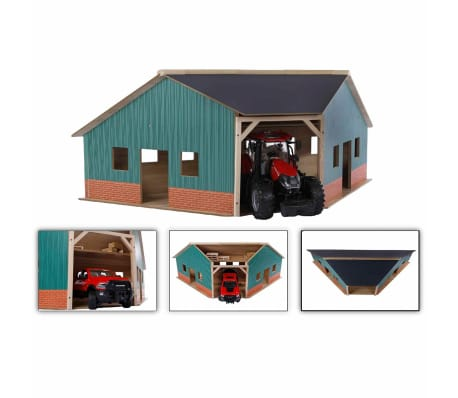 Kids Globe Cobertizo de granja de esquina 1:16 madera 610339[2/2]
