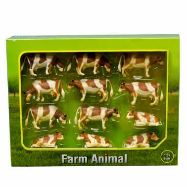 Kids Globe Vacas de juguete 12 unidades 1:32 plástico 571968[1/2]