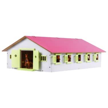 Kids Globe Écurie de chevaux avec 9 box à cheveux 1:232 Rose 610188[2/2]