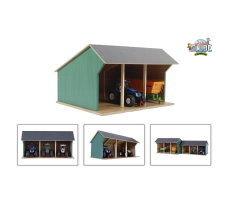 Kids Globe Spielzeug-Scheune für Traktoren Klein 1:32 Holz 610192[1/2]