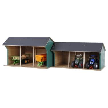 Kids Globe Spielzeug-Scheune für Traktoren Klein 1:32 Holz 610192[2/2]