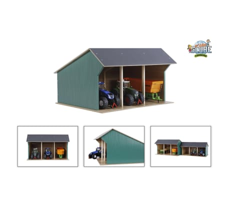 Details About Kids Globe Farm Shed For Tractors Big 132 Wood Toy Barn Buildings 610193