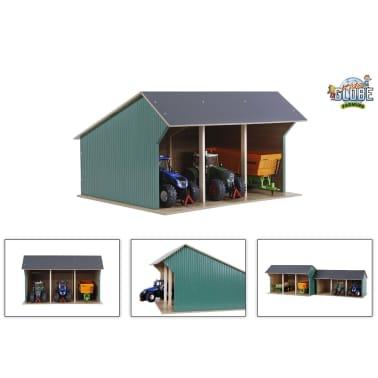 Kids Globe Spielzeug-Scheune für Traktoren Groß 1:32 Holz 610193[1/2]
