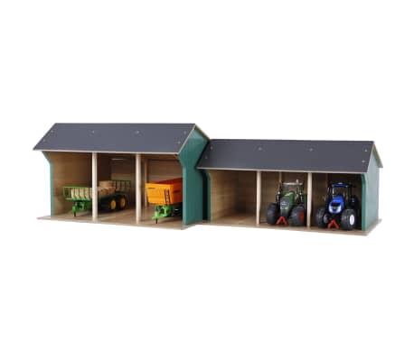 Kids Globe Spielzeug-Scheune für Traktoren Groß 1:32 Holz 610193[2/2]