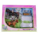 Kids Globe Jouet 2 chevaux et cavaliers Taille 1:24 Plastique 640072