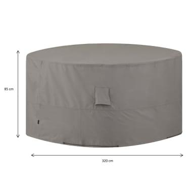 Madison Lauko baldų uždangalas, pilkos sp., apvalus, 320cm[14/14]