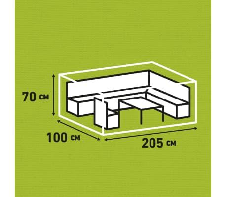 Madison Housse de meubles d'extérieur 205 x 100 x 70 cm Gris[14/15]