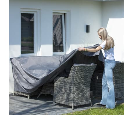 Madison Housse de meubles d'extérieur 205 x 100 x 70 cm Gris[5/15]