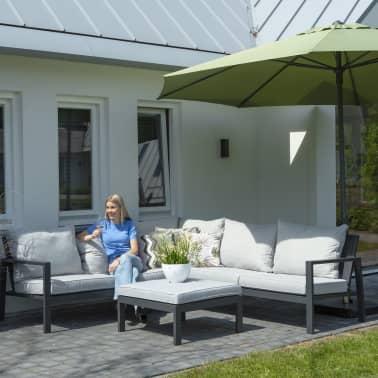 Madison Husă set mobilier relaxare exterior, gri, 270 x 210 x 90 cm, stânga[3/12]