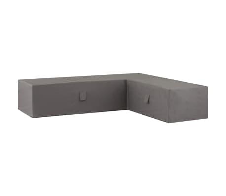 Madison Husă set mobilier de exterior, gri, 320x255x70 cm, dreapta