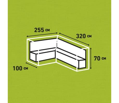 Madison Housse de meubles d'extérieur 320 x 255 x 70 cm Gauche Gris