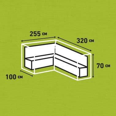 Madison Lauko baldų uždangalas, pilk. sp., 320x255x70cm, kairės pus.[13/13]