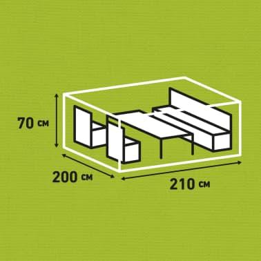 Madison Husă set mobilier de exterior, gri, 210 x 200 x 70 cm[13/14]