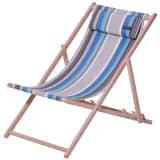 Madison Silla de playa Guatamala madera azul CHAFO067