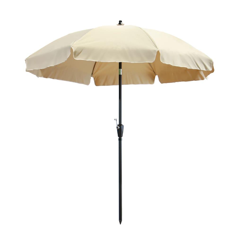 Madison Umbrelă de soare Lanzarote, ecru, 250 cm imagine vidaxl.ro