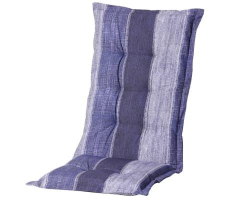 acheter madison coussin de chaise dossier bas denim stripe bleu monlf365 pas cher. Black Bedroom Furniture Sets. Home Design Ideas