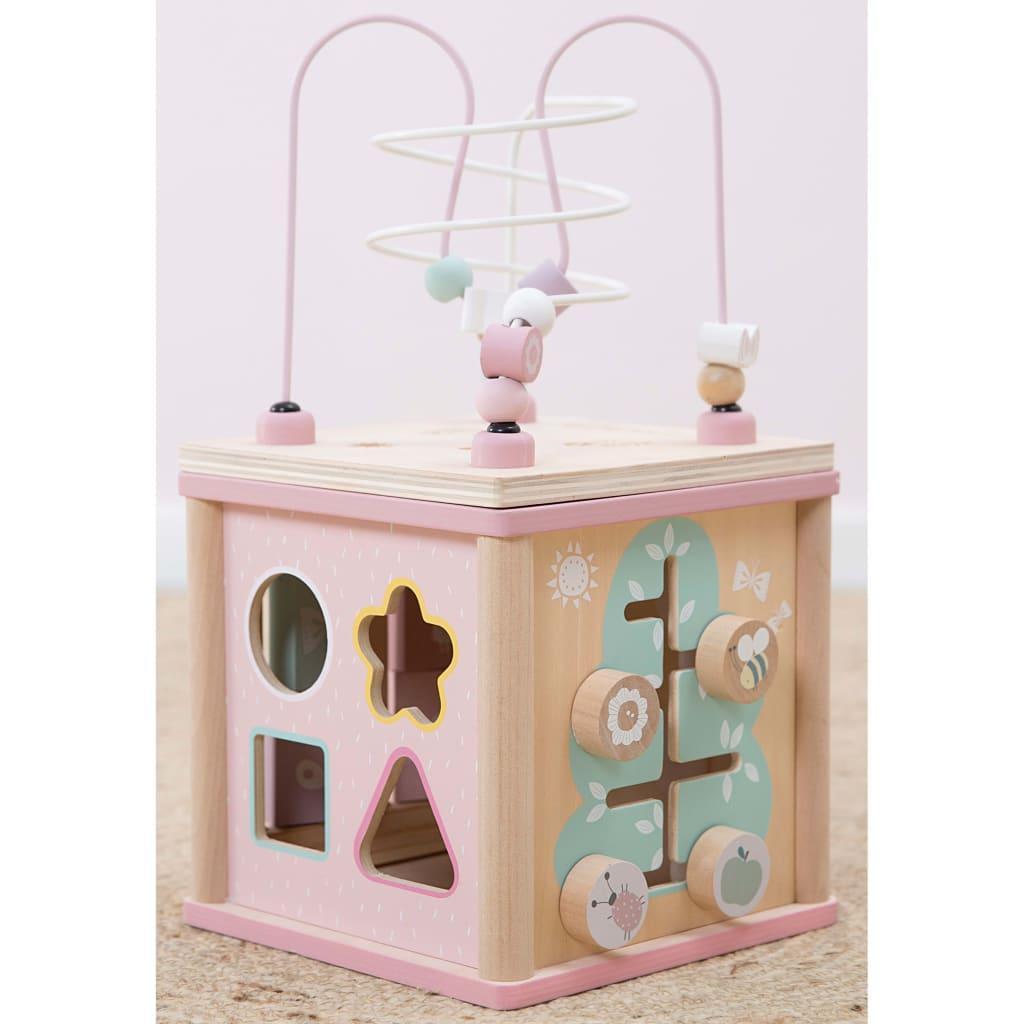 Little Dutch Cub pentru activități, lemn, roz, LD4427 poza vidaxl.ro