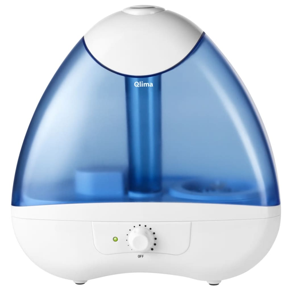 Qlima Ultrasone luchtbevochtiger 25 W wit en blauw H 218
