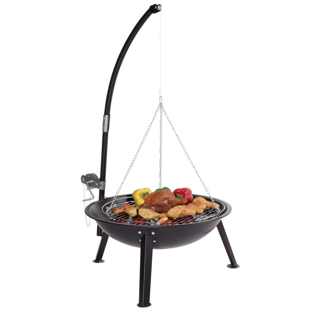 Qlima Vuurkorf met grill 53 cm FFGW 4068