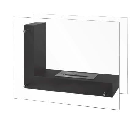 Qlima Cheminée en forme de L à l'éthanol 80 x 31 x 60 cm FFB 8060[3/3]