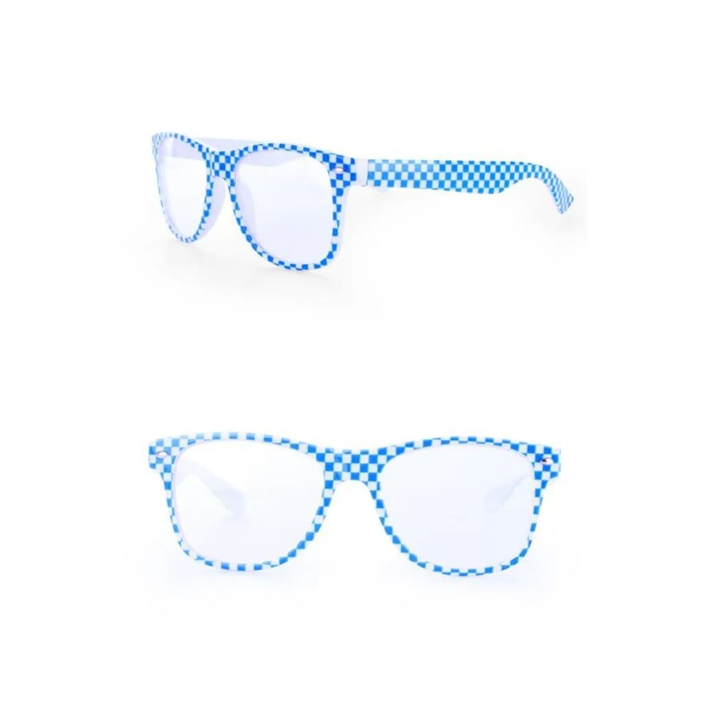 Partyxplosion Oktoberfest Brille blau / weiß