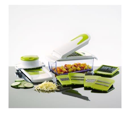 Enrico Univerzálny 7-dielny kuchynský krájač, zelený[1/2]