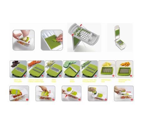 Enrico Univerzálny 7-dielny kuchynský krájač, zelený[2/2]