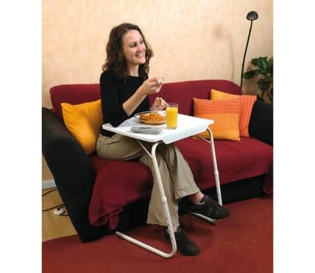 MESA LIVING Reguliuojamas TV stalas Tavolino, baltas[4/7]