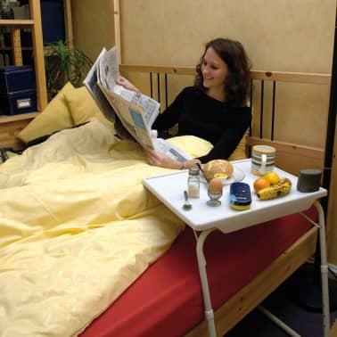 MESA LIVING Reguliuojamas TV stalas Tavolino, baltas[3/7]