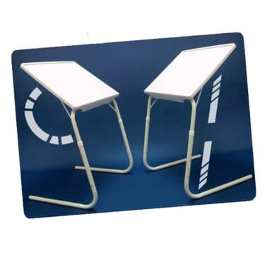 MESA LIVING Reguliuojamas TV stalas Tavolino, baltas[6/7]