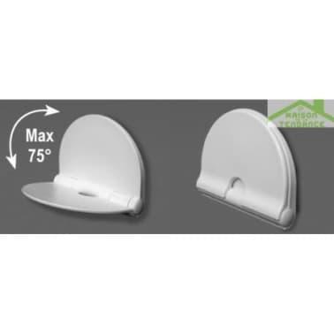 Siège de douche en ABS blanc 36x29 cm[1/2]