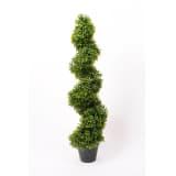 Emerald Dirbtinio buksmedžio spiraliniai topiarai, 2 vnt, žali, 95 cm