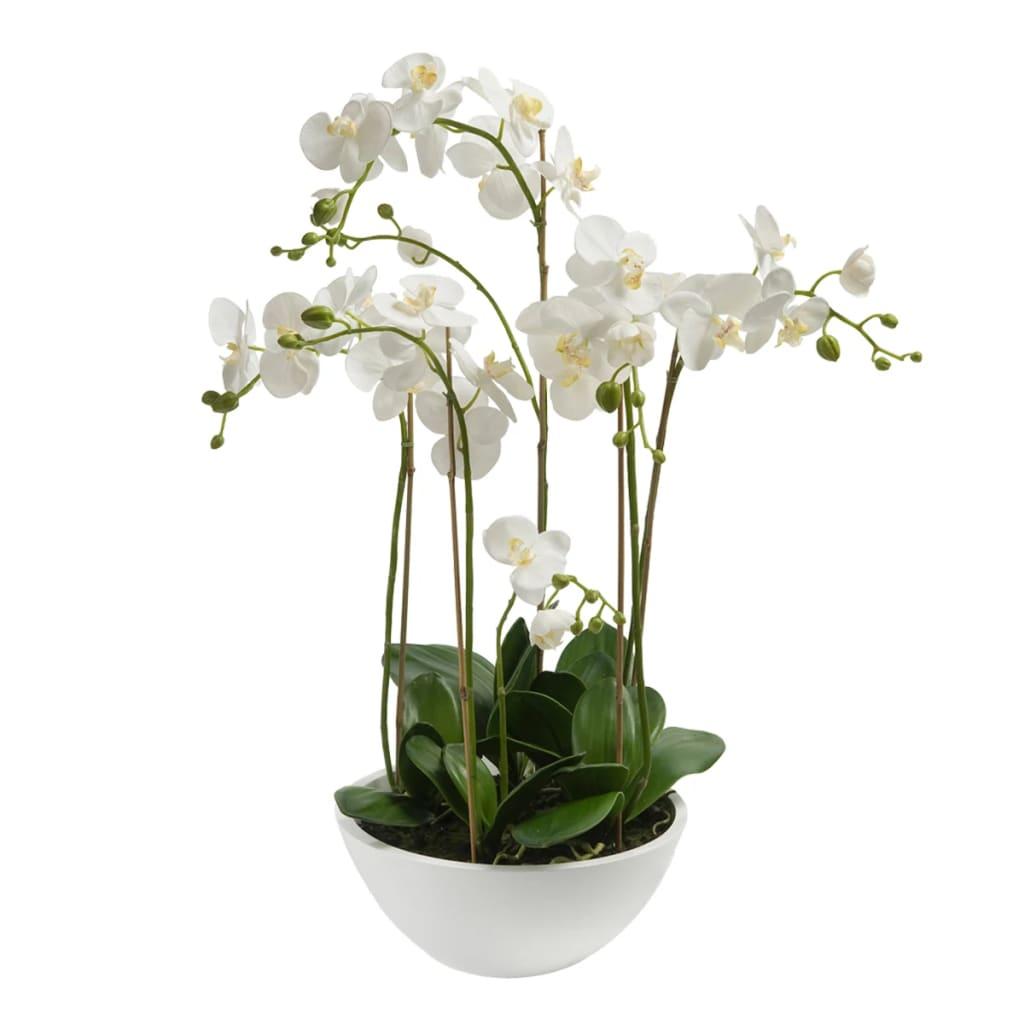 Emerald Orhidee artificială Phalaenopsis, alb, 80 cm 20.335C vidaxl.ro