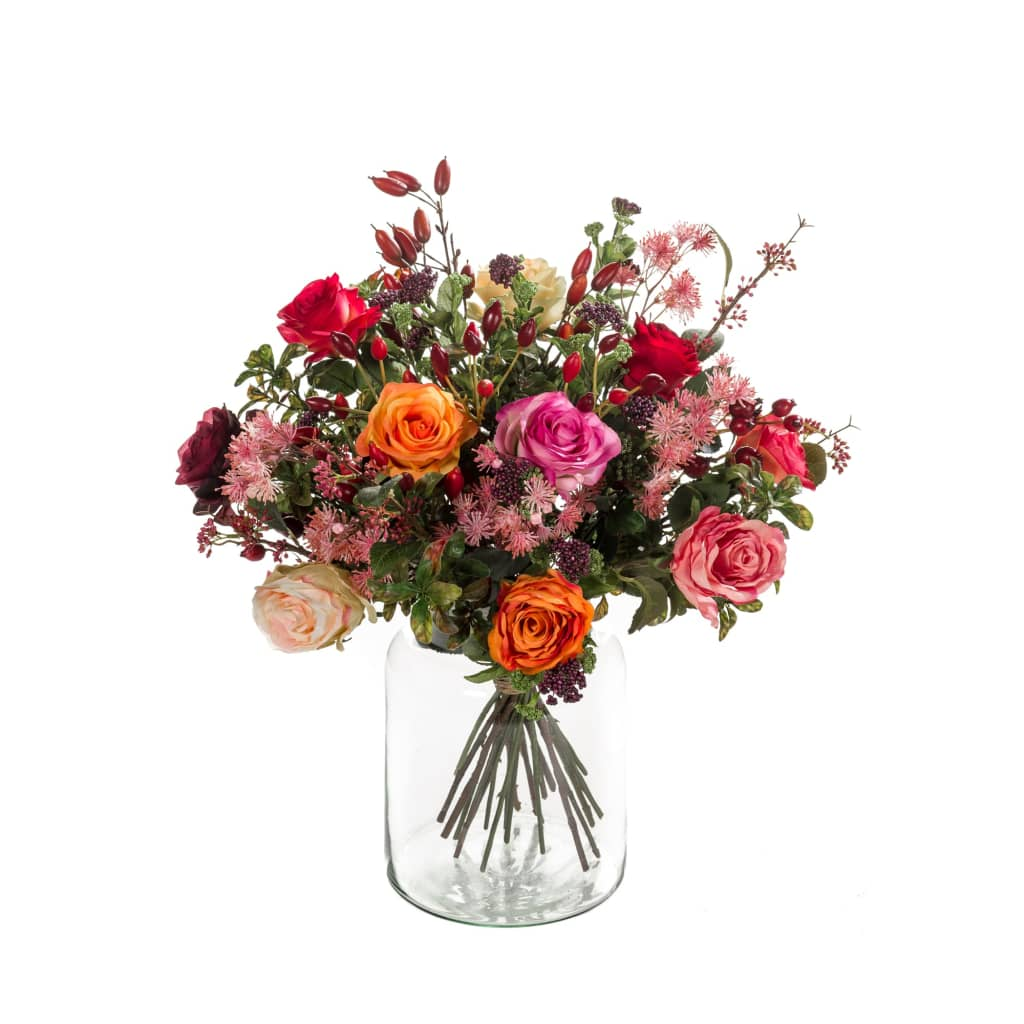 Emerald Bouquet Artificiale Flame Roses