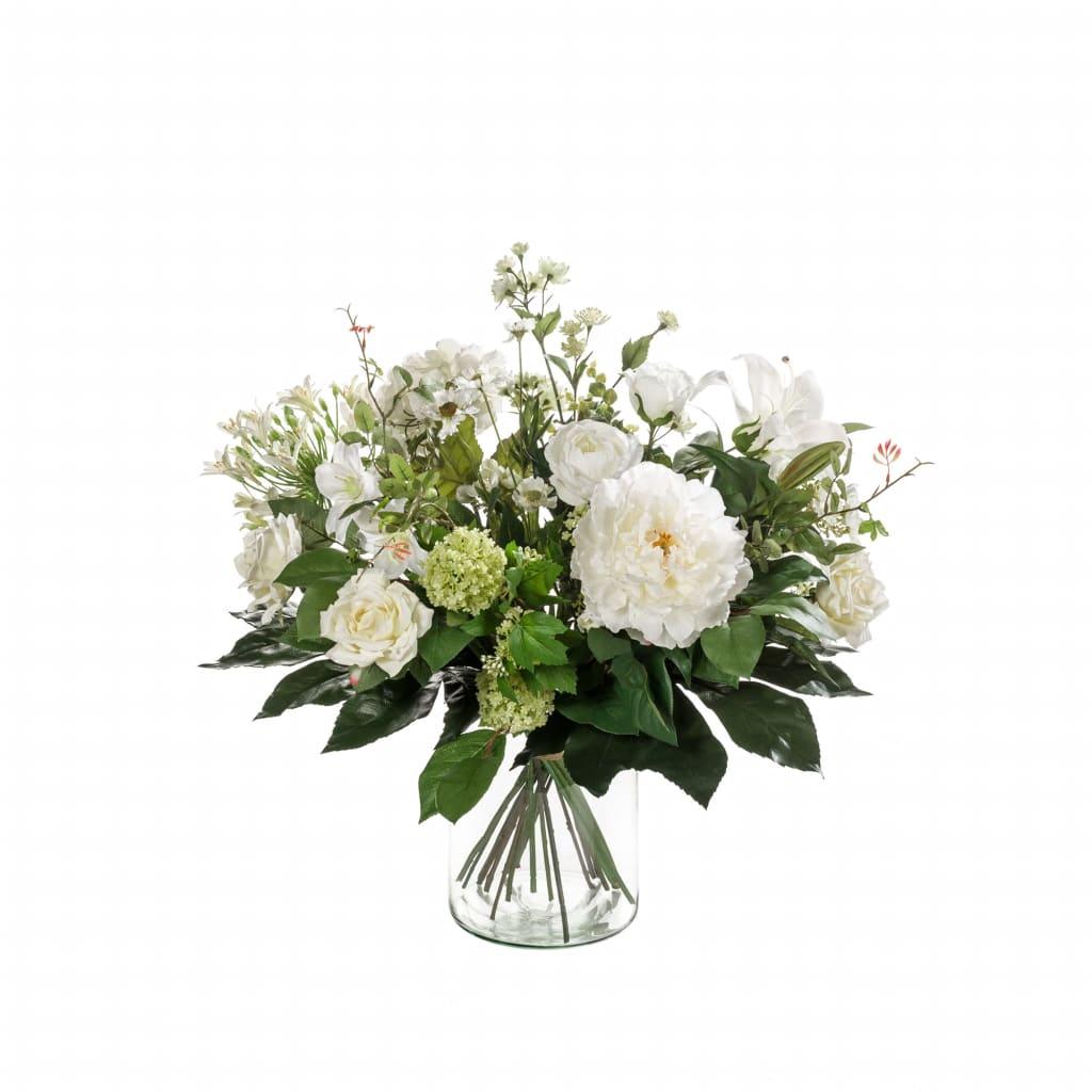 Emerald Buchet de flori artificiale White Dream vidaxl.ro
