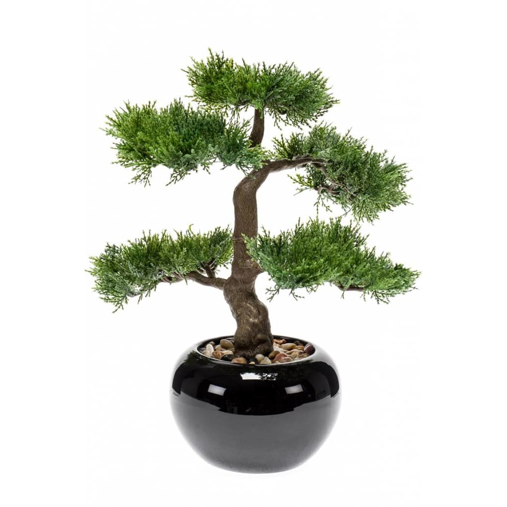Emerald Cedru artificial bonsai, verde, 34 cm 420003 vidaxl.ro