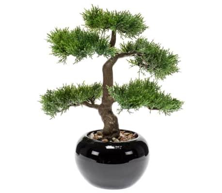 Emerald Cedru artificial bonsai, verde, 34 cm 420003