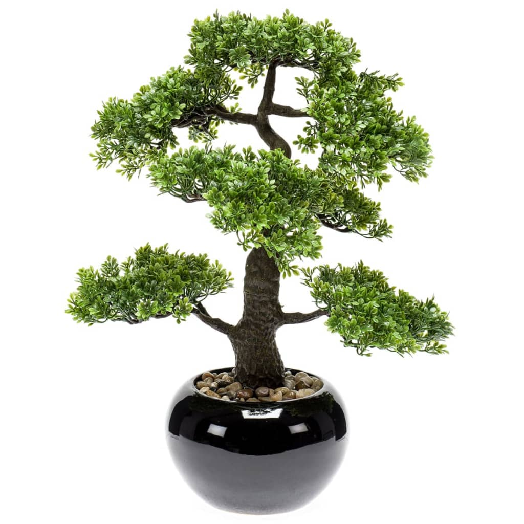 Emerald Ficus artificial mini bonsai, verde, 47 cm 420006 vidaxl.ro